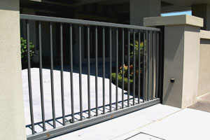 sliding steel automatic security gate and gate opener